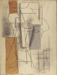 Head of a Man Georges Braque, Malaga, Synthetic Cubism, Pablo Picasso Drawings, Picasso And Braque, Museums In Nyc, Abstract Painters, Abstract Art, Simple Art