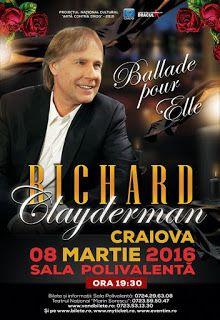 Stirile pe blog: Richard Clayderman vine la Craiova
