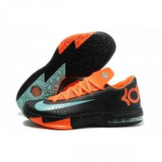 """291110860fcf Discover the Nike Kevin Durant KD 6 VI """"Texas"""" Black Green Glow-Urban  Orange For Sale Cheap To Buy group at Pumarihanna. Shop Nike Kevin Durant  KD 6 VI """" ..."""