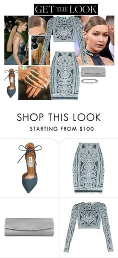 """""""Get the Look: Met Gala 2016"""" by fatyhnrqz94 ❤ liked on Polyvore featuring Steve Madden, Hervé Léger, Stuart Weitzman, Blue Nile, GetTheLook and MetGala"""