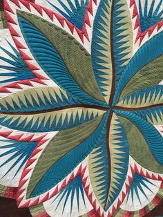 """The Awakening"" by Annelize Littlefair.  Festival of Quilts 2015.  Fire Island Hosta design by Judy Niemeyer."