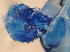 Acrylic with stabilo pencil on paper by Mary-Jean Dudok de Wit.