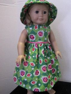 American Girl Doll Clothes St Patricks Day Lady by bethsagboutique