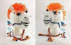 Crochet Pattern 091 Bronco Earflap Beanie Hat by desertdiamond