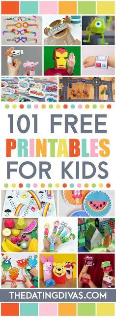 101 Free Printables For Kids - (thedatingdivas)                                                                                                                                                                                 More