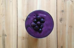 A Stripped Smoothie | All Bluebs (aka blueberries!) love the color