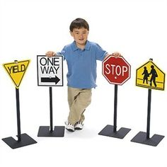 Add the Angeles Traffic Signs to your Physical Education program at school or keep in your garage. Kids will love riding their bikes or scooters pretending to be on the road. #dramaticplay http://www.sensoryedge.com/angeles-pretend-play-traffic-signs.html