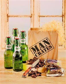 gifts: Grolsch Beer & Biltong in a Crate!