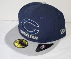 New  35 New Era 59Fifty 7 1 4 Chicago Bears Heather Fresh Fit Hat Cap  Blue Grey  fashion  clothing  shoes  accessories  mensaccessories  hats  (ebay link) 6378f236299