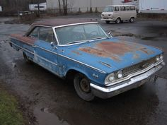 "1963 Ford Galaxie 500XL 2DR HDTP for sale | Hemmings Motor News A ""Revenewers"" car Unusual XL500 Police car with P code VIN: 3U68P175229 that was used as an undercover car to run down moonshiners. Still has red law enforcement lights hidden behind grill. Originally blue with a white vinyl top and blue interior. Will run and move under its own power, but very rusty. All Hi-Po parts still present-carburetor, cast iron headers, air cleaner, 4 speed trans, special steering stops, HD rear end"