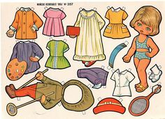 paper doll with skiing and nurses outfit Victorian Dollhouse, Modern Dollhouse, Paper Art, Paper Crafts, Decoupage, Vintage Paper Dolls, Paper Models, Sweet Memories, Paper Toys