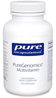 Pure Encapsulations  PureGenomics Multivitamin  Hypoallergenic MultivitaminMineral Complex  60 Capsules * You can find more details by visiting the image link.