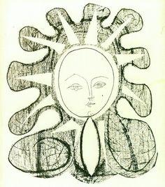 Pablo Picasso, Françoise as the Sun (Françoise en soleil), Lithograph, 21 ¼ x 17 Pablo Picasso Drawings, Picasso Art, Picasso Portraits, Salvador Dali, Thirty One, Matisse, Moleskine, Mimi Photo, Francoise Gilot