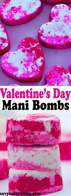 Make these easy moisturizing Valentine's Day Mani/ Pedi Bombs for the perfect festive gift for that special someone!