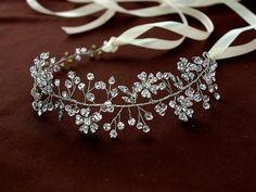 Diadema floral de vid, naturaleza inspirado vid de pelo, diadema cristal…