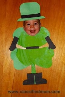 Kid's Craft- Baby St. Patrick's Day Shamrock Leprechaun