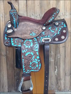 "OS204RO 15"" HILASON WESTERN LEATHER BARREL RACING TRAIL PLEASURE HORSE SADDLE #HILASON"