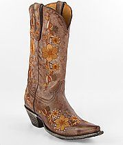 Love the flower pattern on this cowgirl boot.