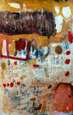 Gorgeous messiness. love the scribbles. by wendy mcwilliams