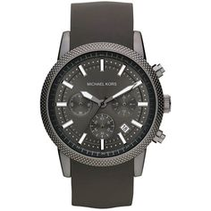This Michael Michael Kors watch puts a modern twist on a minimalist design. Features a round, textured bezel, a solid dial with date display and white markers,…