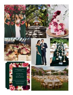 """Do you want a wedding thas unique? This beautiful garden wedding is both unique in color and elegant. This color scheme is burgundy, fuscia, and emerald. There is lots of flowers. Imagine saying your """"I do's"""" under a shaded canopy of vines and flowers at Hotel Albuquerque. Wedding Themes, Wedding Colors, Wedding Events, Beautiful Gardens, Event Design, Garden Wedding, Vines, Color Schemes, Champagne"""