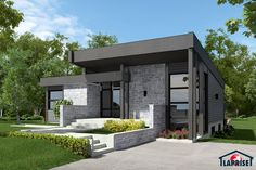 Magnificent Maison Moderne Plan that you must know, You're in good company if you're looking for Maison Moderne Plan Modern Bungalow House, Modern House Plans, Small House Plans, Modern House Design, Small Modern Home, Modern Contemporary Homes, Prefabricated Houses, Prefab Homes, 2 Bedroom House Plans