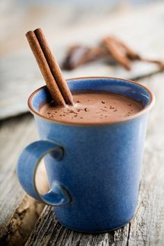 Hot chocolate on a cold day