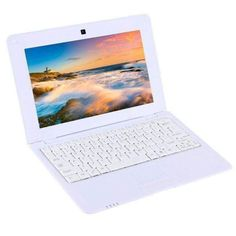 White Tdd-10.1 Netbook Pc 10.1 Inch 1gb+8gb Android 5.1 Atm7059 Quad Core 1.6ghz Bt Wifi Hdmi Sd Rj4