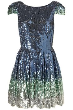 Ombre Sequin Prom Dress from Top Shop
