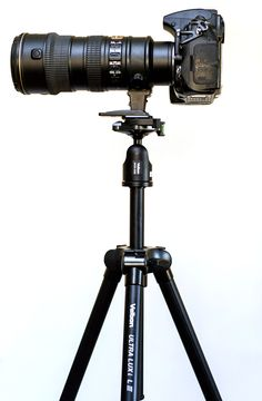 Lightweight, compact, and inexpensive travel tripod.