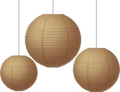 """Burlap Paper Lanterns (TCR77228) Each pack includes three lanterns. Measures approx. 8"""", 10"""", and 12"""". #classroom #decor #AILtyler"""