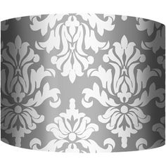 "Lamp Shades At Walmart Best 10"" Drum Lamp Shade Damask Gray Walmart $1995  Home Is Where My Design Decoration"