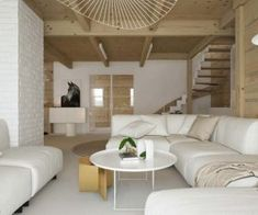 Drewniany minimalistyczny dom   Proj: Elementy   IH - Internity Home Living Room Designs, Couch, Furniture, Home Decor, Settee, Decoration Home, Sofa, Room Decor, Home Furnishings
