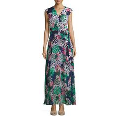 Taylor Sleeveless Floral-Print Maxi Dress