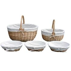 Farmstead Collection Willow and Canvas Basket   Dunelm