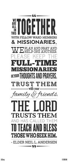 Missionary quote expression