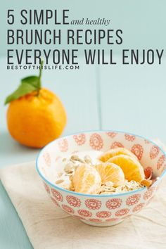 5 of my top brunch recipes for summertime! They are refreshingly simple to whip up, and perfect to make when you& having guests. A Food, Good Food, Food And Drink, Yummy Food, Banana Protein Bars, Brunch Recipes, Breakfast Recipes, Eat Yourself Skinny, Healthy Brunch