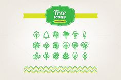 Check out Hand drawn tree icons by miumiu on Creative Market