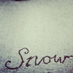 Snow...... Again.... //one pin that reflects our day