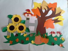 Gela Bukia's statistics and analytics Tree Crafts, Decor Crafts, Diy And Crafts, Arts And Crafts, Paper Crafts, Class Decoration, School Decorations, Fall Crafts For Kids, Art For Kids