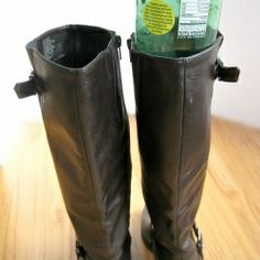 An easy and frugal (free!) way to store your boots and organize your closet.