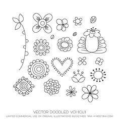 NEW Vector Doodled Vo1 and Vo2 {CU} | MissTiina.com {Blog}