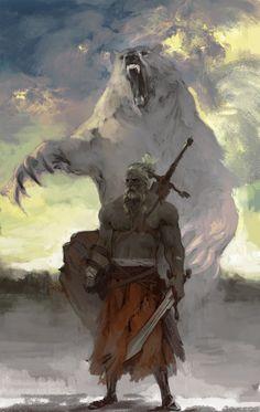 Untok, Líder do clã dos Ursos. Dizem as lendas que Untok tornou-se invencível ao matar e comer o coração de Malkaten, o guardião das montanhas.