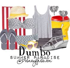 Dumbo:) cute for a circus or carnival Movie Inspired Outfits, Disney Inspired Fashion, Themed Outfits, Movie Outfits, Disney Fashion, Disney Bathing Suit, Bathing Suits, Disney Dress Up, Disney Clothes