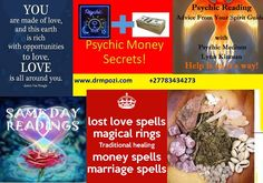 Authentic Psychic Readings by Mpozi +27783434273 Let me solve all your problems by using my witchcraft in modern fiction  with the help of Irish ancestors with summon spirits www.drmpozi.com