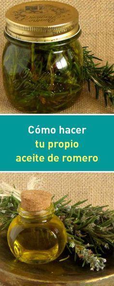 Cómo hacer tu propio aceite de romero #aceites #romero #casero #diy