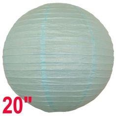 """Baby Blue Chinese/Japanese Paper Lantern/Lamp 20"""" Diameter - Just Artifacts Brand by Just Artifacts. $2.28. Great for party and home decoration. Check Just Artifacts products for more available colors/sizes."""