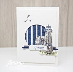 The Sailing Home Suite would have to be my favourite Suite at the moment. The St… The Sailing Home Suite would have to be my favourite Suite at the moment. The Stampin' Up! Artisan Design Team have created THE most gorgeous… Masculine Birthday Cards, Masculine Cards, Tarjetas Stampin Up, Nautical Cards, Beach Cards, Stampin Up Catalog, Stamping Up Cards, Homemade Cards, I Card