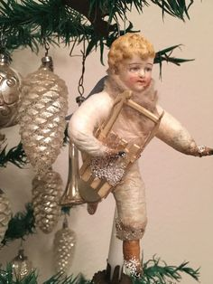 Angel Ornaments for Christmas decorations to make your home look enigmatic > Detectview Christmas Tree Fairy, Old Fashioned Christmas, Christmas Past, Victorian Christmas, Vintage Christmas Ornaments, Vintage Holiday, Christmas Angels, Christmas Decorations To Make, Handmade Christmas