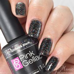 Pink Gellac Glitterize Black